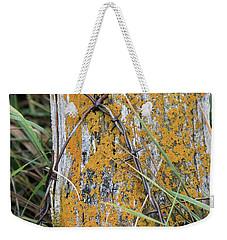 Weathered Fence Weekender Tote Bag