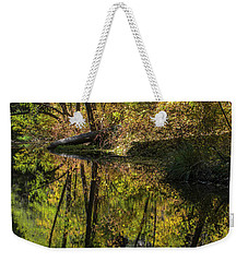 West Fork In Autumn Weekender Tote Bag