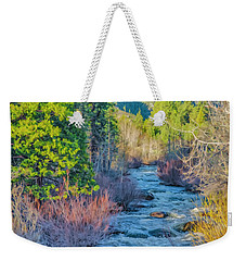 West Fork Rapids Weekender Tote Bag by Nancy Marie Ricketts