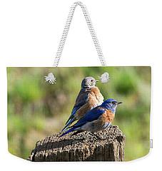 Western Bluebird Pair Weekender Tote Bag