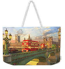 Westminster Bridge Weekender Tote Bag by Dominic Davison