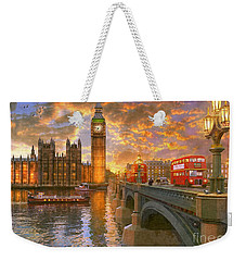 Westminster Sunset Weekender Tote Bag by Dominic Davison