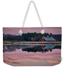Weekender Tote Bag featuring the photograph Westminster Town Pond by Mark Dodd