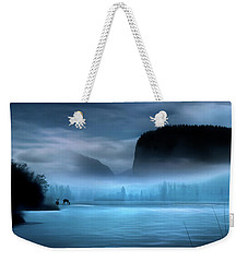 Weekender Tote Bag featuring the photograph While You Were Sleeping by John Poon