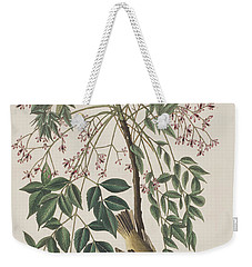 White-eyed Flycatcher Weekender Tote Bag by John James Audubon