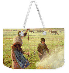 White Frost Weekender Tote Bag by Camille Pissarro