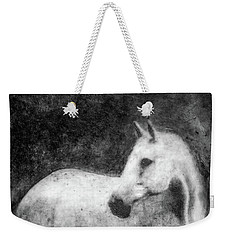 White Horse Portrait Weekender Tote Bag