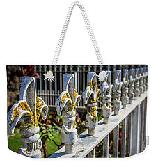 Weekender Tote Bag featuring the photograph White Iron by Perry Webster