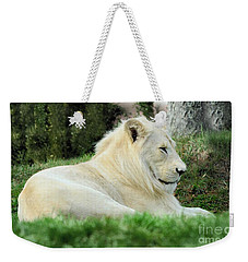 White Lion   Male Weekender Tote Bag