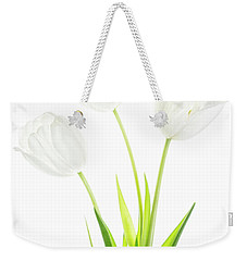 Weekender Tote Bag featuring the photograph White On White by Rebecca Cozart
