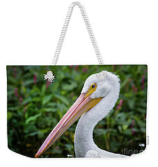 Weekender Tote Bag featuring the photograph White Pelican by Robert Frederick