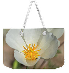 Weekender Tote Bag featuring the photograph White Poppies  by Saija Lehtonen