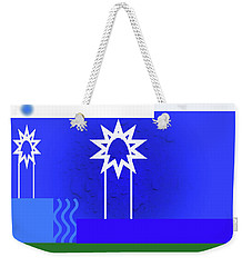 Weekender Tote Bag featuring the photograph White Sparks by Tina M Wenger