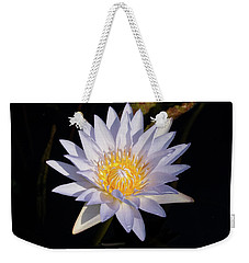 Weekender Tote Bag featuring the photograph White Water Lily by Steve Stuller