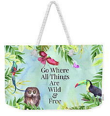 Weekender Tote Bag featuring the digital art Wild And Free by Colleen Taylor