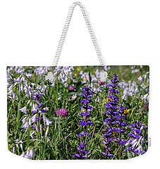 Weekender Tote Bag featuring the photograph Wild Flowers by Patricia Hofmeester