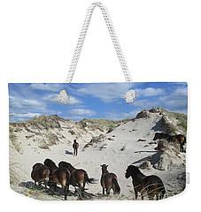 Wild Horses In The Noordhollandse Duinreservaat Weekender Tote Bag