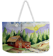 Wilderness Cabin Weekender Tote Bag by Jimmy Smith