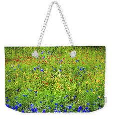Weekender Tote Bag featuring the photograph Wildflowers In Bloom by D Davila
