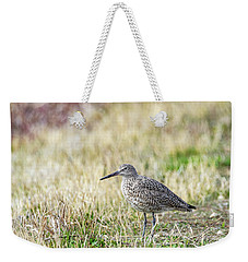 Weekender Tote Bag featuring the photograph Willet by Michael Chatt