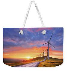 wind turbines in Oiz eolic park Weekender Tote Bag