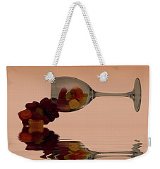 Weekender Tote Bag featuring the photograph Wine Gums Sweets by David French