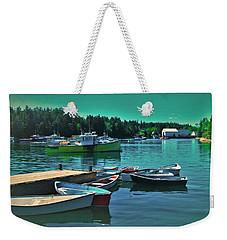 Winter Harbor Weekender Tote Bag