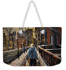 Winter In The City Weekender Tote Bag