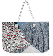 Winter Landscape With Rowan Trees Weekender Tote Bag