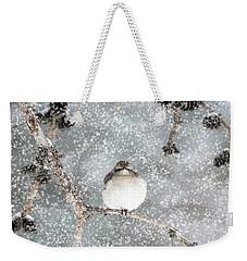 Winter Mockingbird Weekender Tote Bag