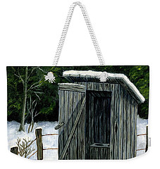 Winter Outhouse #1 Weekender Tote Bag