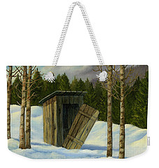 Winter Outhouse #3 Weekender Tote Bag