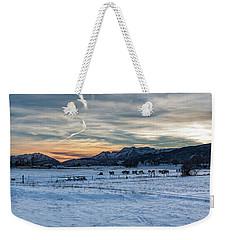 Winter Range Weekender Tote Bag