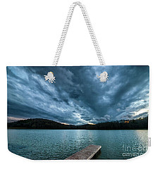 Weekender Tote Bag featuring the photograph Winter Storm Clouds by Thomas R Fletcher