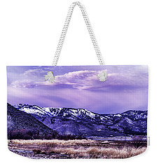 Winter Sunrise Weekender Tote Bag by Nancy Marie Ricketts