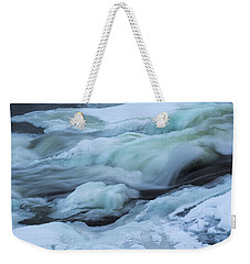 Winter Waterfall Weekender Tote Bag
