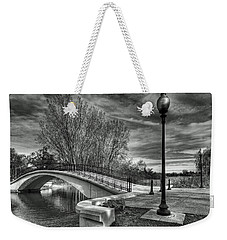 Winter's Bridge Weekender Tote Bag