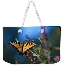 Weekender Tote Bag featuring the photograph Summer Flight by Geri Glavis