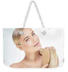 Woman With A Beautiful Healthy Hair Weekender Tote Bag