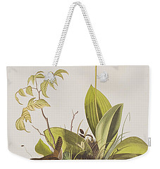 Wood Wren Weekender Tote Bag by John James Audubon