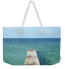 Weekender Tote Bag featuring the photograph Wooden Bath Pier by Kennerth and Birgitta Kullman