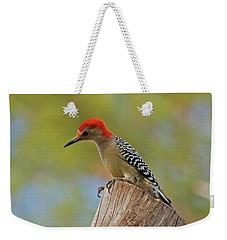 Weekender Tote Bag featuring the digital art 1- Woodpecker by Joseph Keane