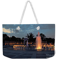 World War II Memorial Fountain Weekender Tote Bag