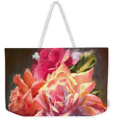 Yellow And Pink Roses Weekender Tote Bag
