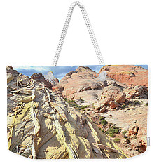 Yellow Brick Road In Valley Of Fire Weekender Tote Bag by Ray Mathis