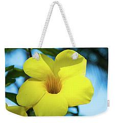 Yellow Flower Weekender Tote Bag by James Gay