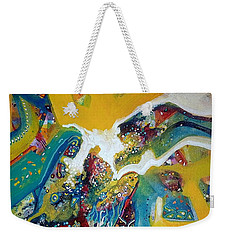 Yellow Harmony Weekender Tote Bag