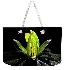 Weekender Tote Bag featuring the photograph Yellow Trillium by Barbara Bowen