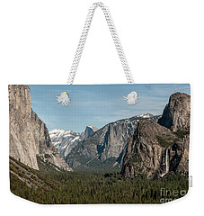 Weekender Tote Bag featuring the photograph Yosemite Valley Afternoon by Sandra Bronstein
