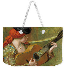 Young Spanish Woman With A Guitar Weekender Tote Bag